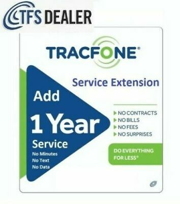 TracFone Service Extension 1 Year  365 Days Branded Phones - Load Within Hours