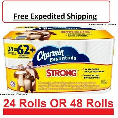 Charmin Essentials Strong Toilet Paper Bath Tissue Giant Roll 24 OR 48 Rolls