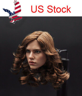 US 16 Scale 12 Female Head Sculpt Figure Scarlett Johansson Black Widow Toy