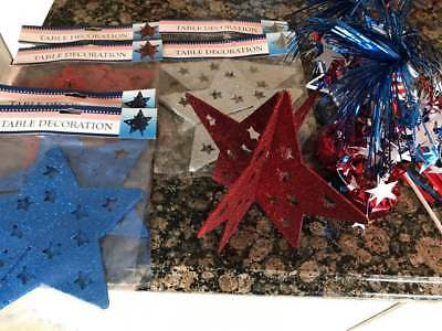 Lot11 Assorted 4th of July stars Decorations