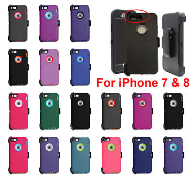 For iPhone 7 - 8 Shockproof Case Cover Defender With Belt Clip Fits Otterbox