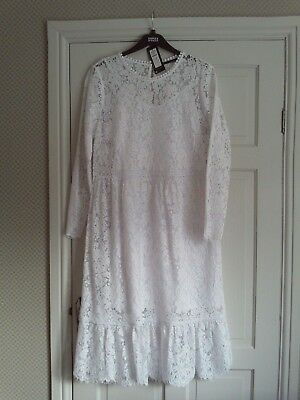M-S COLLECTION  KATE MIDDLETON  REPLICA WHITE LACE DRESS SIZE 14 BNWTS