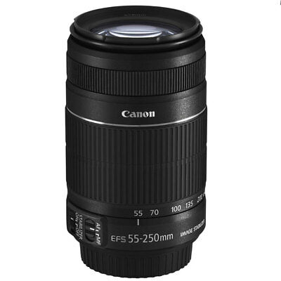 Canon EF-S 55-250mm f4-0-5-6 IS II Zoom Lens With Image Stabilizer