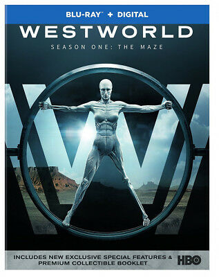 Westworld  Maze Complete First 1st Season 1 One NEW BLU-RAY - DIGITAL-Free Ship