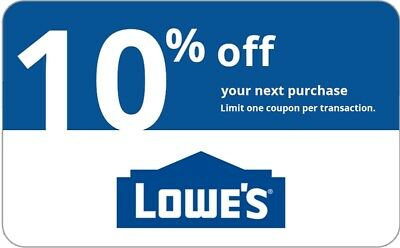ONE 1x Lowes 10 OFF 1Coupon-InStore and Online-15 seconds-Delivery-