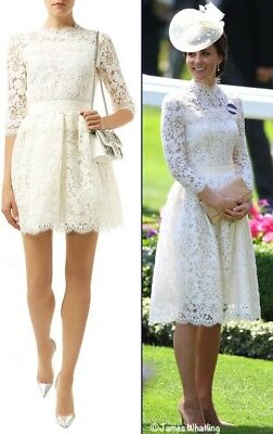 Alexander McQueen Floral Lace Dress ASO Duchess of Cambridge Kate Middleton EU34