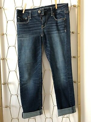 Womens Size 8 Short American Eagle Outfitters Jeans Slim Dark Wash