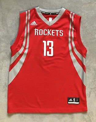 Adidas Houston Rockets James Harden Youth Jersey  Red And Grey Size Large