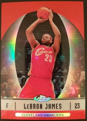 2006-07 Topps Finest Refractor 22 LeBron James Cavs Lakers