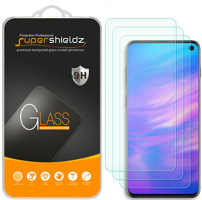 3-Pack Supershieldz Tempered Glass Screen Protector for Samsung Galaxy S10e