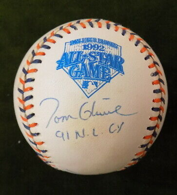 1992 ALL STAR GAME AUTOGRAPHED BASEBALL COX GLAVINE PENDELTON ATLANTA BRAVES HOF