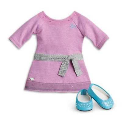 American Girl Lilac Dress with Shoes and Pink Underwear New