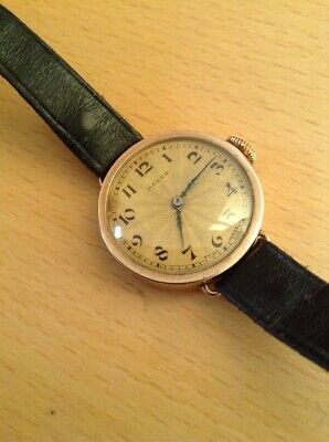 9ct GOLD ROLEX MID SIZE WRISTWATCH -VERY GOOD AESTHETICALLY N- R- Fully Wound -