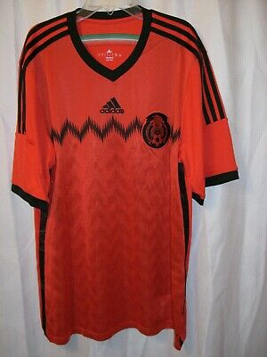 Adidas Climacool Mexico 2014 World Cup Futbol Short Sleeve Soccer Jersey Sz L