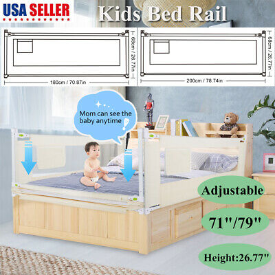 Baby Guard Bed Rail Toddler Safety Adjustable Kids Infant Bed Universal 7179