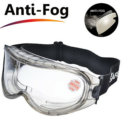 Safeyear Safety Goggles Glasses Anti Fog Scratch Resistant UV Protective Z87-