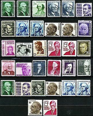 Prominent Americans Issues of 1965 Set of 32 Different MNH Stamps See Scott List