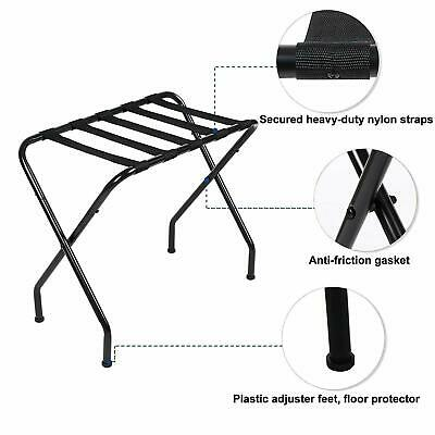 Metal Portable Travel Folding Luggage Suitcase Rack Stand for Home Hotel