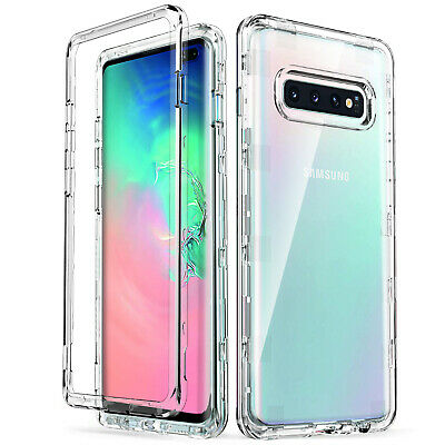 Transparent Heavy Duty Shockproof Rugged Case Cover for Samsung Galaxy S10 Plus