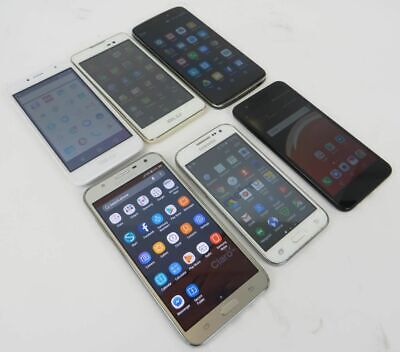 Dealer Lot Of 6 Android Smartphones BLU Alcatel Samsung - LG - Unknown Carriers