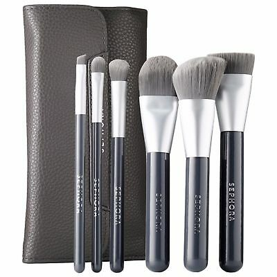 New SEPHORA Charcoal Antibacterial Brush Set New Authentic Retail Packaging