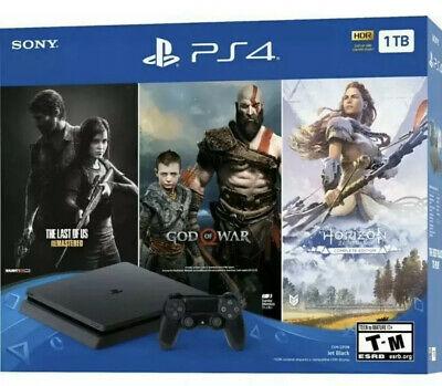 PlayStation 4 Slim 1TB - PS4 Game Console w Controller -Black FREE SHIPPING
