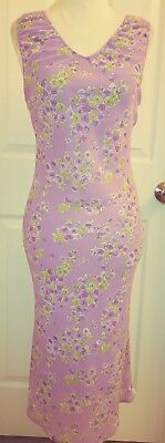 Wet Seal Womens Casual Floral Multi-Color Mid Calf Sleeveless Dress Size Small