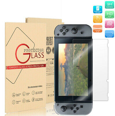 9H- Nintendo Switch Ultra Clear Slim Premium Tempered Glass Screen Protector USA