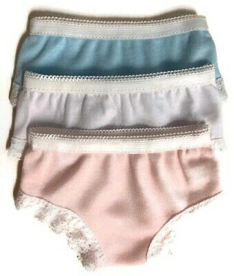 3pk Panties-BlueWhitePink for 18 inch American Girl Doll Clothes Underwear