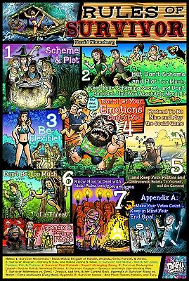 Rules of Survivor Poster - Rules by David Bloomberg Designed by Dabu Doodles