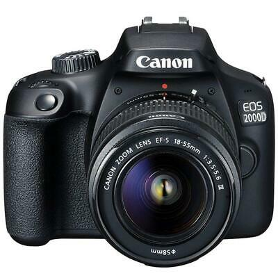 Canon EOS 2000D  Rebel T7 24-1MP CMOS 1080p DSLR Camera - EF-S 18-55mm Lens