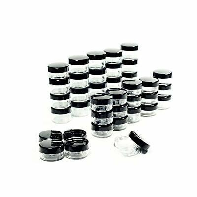 50 Pcs 5 Grams Cosmetic Empty Sample Small Containers Jar Makeup Lip Balm 5ml US