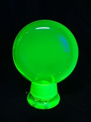 Black Light GLASS  URANIUM VASELINE  POCKET TOBACCO - STORAGE JAR  KRYPTONYTE