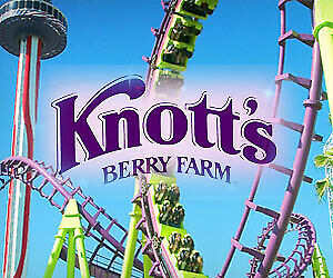 4 FOUR Single Day E-Tickets Knotts Berry Farm or Soak City General Admission