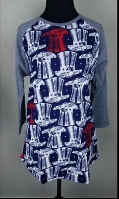 NWT Lularoe Randy tee 4th of July Independence Day medium top hat brand new