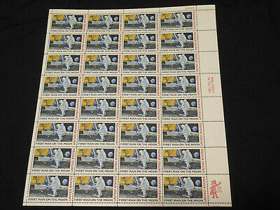 US STAMP  C-76 First Man on the Moon 10cent AirMail Sheet Of 32 MNHOG