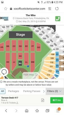 the who concert tickets 123 or 4- May 25 citizens bank park Philadelphia