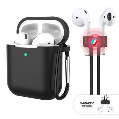 3-in-1 For Apple AirPods 1  2 Silicone Case Cover - Keychain - Magnetic Strap