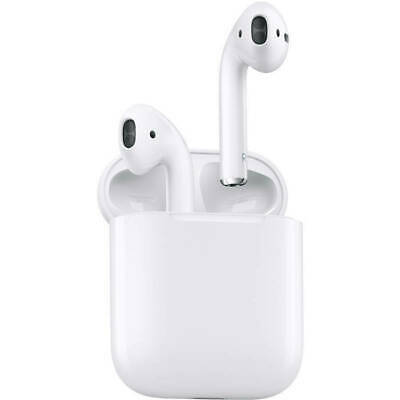 Apple Airpods MMEF2AMA Wireless Bluetooth Earbuds With Charging Case - White
