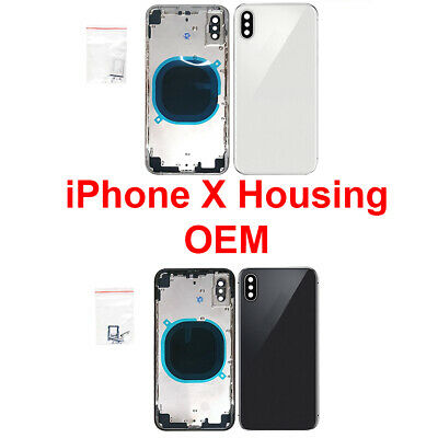OEM Replacement Back Housing Frame Battery Glass Door Cover Fits Apple iPhone X