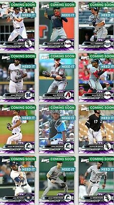 Topps Bunt 2019 Premium Base Tier 7 Purple Choose The Digital Card 3-5x Boost