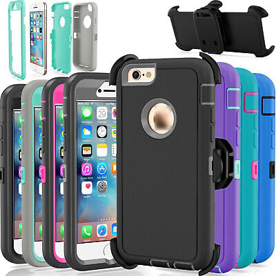 For Apple iPhone 6 - 6S Case Cover Defender with Belt Clip Fits Otterbox Series