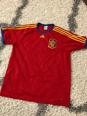Adidas ClimaLite Spain Espana World Cup Soccer Jersey Futbol Red Size Large