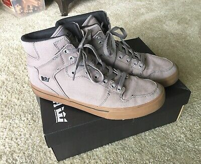 SUPRA 👑 Vaider Storm Grey Size 11 Men's  High Top Shoe 👟