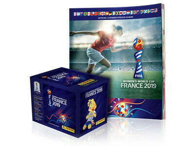 PANINI WOMENS WORLD CUP FRANCE 2019 1 Box of 50 sticker packs - 1 Album