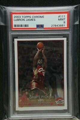 2003 Topps Chrome LeBron James ROOKIE RC 111 PSA 9 MINT
