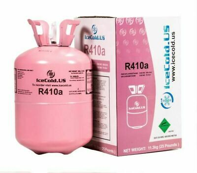 R410a R410a Virgin Factory Sealed Refrigerant 25lb tank- New Factory Sealed