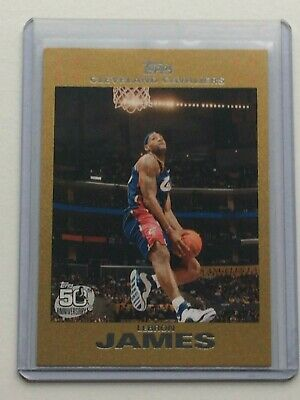 2007 Topps Gold LEBRON JAMES d  2007