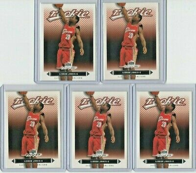Lot 5 2003-04 Upper Deck MVP 201 LEBRON JAMES RC Cleveland Cavaliers Rookie