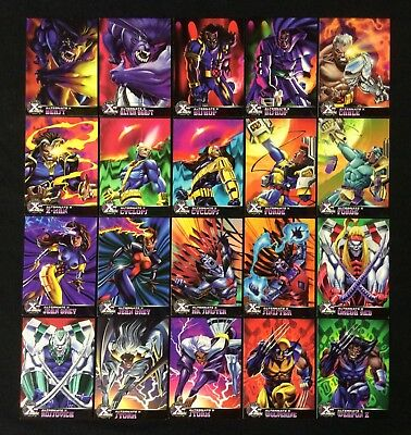 1995 MARVEL FLEER ULTRA X-MEN CHROMIUM ALTERNATE X CHASE CARD SINGLES YOU CHOOSE